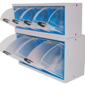 Boitiers avec tiroirs transparents extractibles