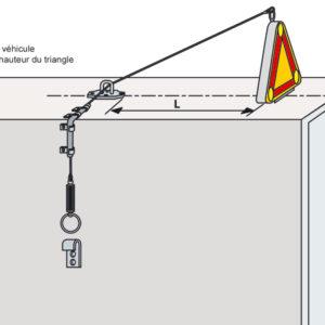 Kit de rabattement manuel pour triflash