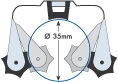 clip porte balai pour fourgon utilitaire